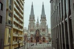 Vieja y moderna arquitectura en ciudad del europ fotografía de archivo