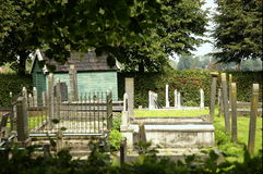 Vieja yarda grave Imagen de archivo