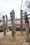 Vieja yarda grave coreana foto de archivo libre de regalías