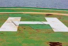 Vieja zona de aterrizaje del helicóptero Fotos de archivo