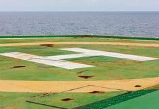 Vieja zona de aterrizaje del helicóptero Fotografía de archivo libre de regalías