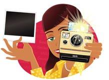 Viejas cámara y persona inmediatas de la impresión Libre Illustration