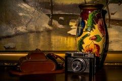Viejas cámara y pintura Fotos de archivo