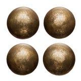 Viejas cabezas del remache del metal Imagen de archivo libre de regalías