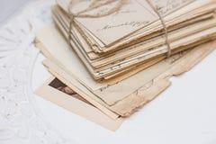 Viejas cartas Fotos de archivo libres de regalías