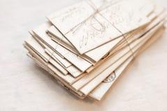 Viejas cartas imagen de archivo libre de regalías