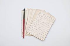 Viejas cartas Imágenes de archivo libres de regalías