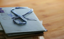 Viejas cartas de amor Foto de archivo