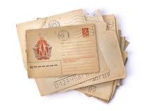 Viejas cartas Fondo de la vendimia Imagen de archivo libre de regalías