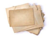 Viejas cartas Fondo de la vendimia Foto de archivo libre de regalías