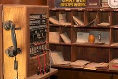 Viejas comunicaciones del teléfono Fotografía de archivo