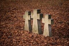 Viejas cruces de la tumba imagen de archivo libre de regalías