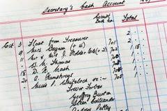 Viejas cuentas Fotos de archivo libres de regalías