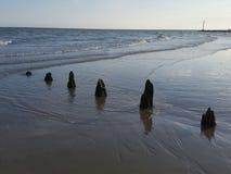 viejas defensas de mar foto de archivo libre de regalías