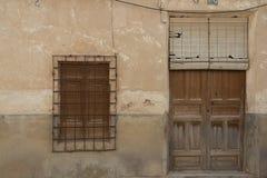 Viejas 23 di ventanas di Puertas y Immagini Stock Libere da Diritti