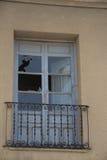 Viejas 21 di ventanas di Puertas y Fotografia Stock