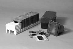 Viejas diapositivas en marcos Fotos de archivo