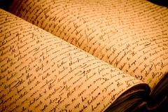 Viejas escrituras Imagenes de archivo