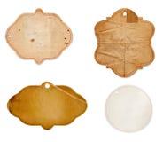 Viejas escrituras de la etiqueta del papel fotografía de archivo libre de regalías