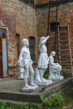 Viejas esculturas del parque de la era soviética foto de archivo libre de regalías