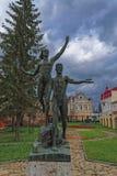 Viejas esculturas del parque de la era soviética fotografía de archivo