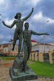 Viejas esculturas del parque de la era soviética imagen de archivo libre de regalías