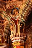 Viejas esculturas en el pasillo dharbar del pasillo del ministerio del palacio del maratha del thanjavur Imagenes de archivo