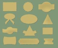 Viejas etiquetas engomadas fijadas para el diseño Fotos de archivo libres de regalías