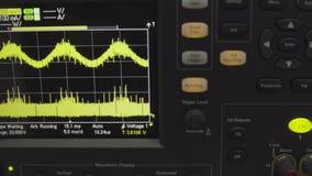 Viejas exhibiciones de los metros profesionales del vu del análogo en un estudio de grabación, midiendo y mostrando los decibelio almacen de metraje de vídeo