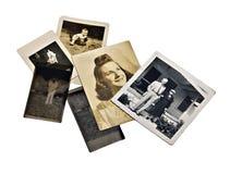 Viejas fotos y negativas de familia Imagenes de archivo