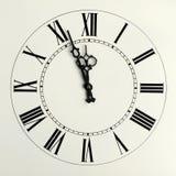 Viejas horas con las flechas calculadas imagen de archivo libre de regalías