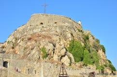 Viejas imágenes de la fortaleza de Corfú - castillo de Corfú Fotos de archivo