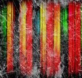 Viejas líneas coloridas abstractas stock de ilustración
