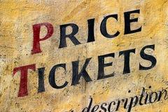 Viejas letras de la muestra de la tienda de Londres Foto de archivo libre de regalías