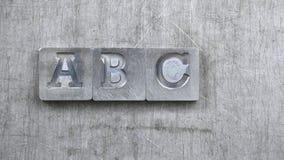Viejas letras del vintage de ABC Imágenes de archivo libres de regalías