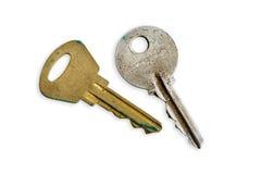 Viejas llaves de Moderm Imagen de archivo libre de regalías