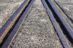 Viejas líneas ferroviarias Fotografía de archivo libre de regalías
