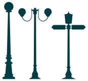 Viejas luces de la ciudad Stock de ilustración