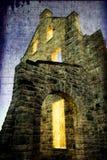 Viejas luces del castillo de la película Foto de archivo