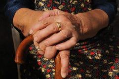 Viejas manos Imagen de archivo