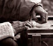 Viejas manos Foto de archivo