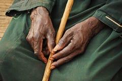 Viejas manos de rogación Foto de archivo libre de regalías