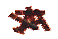 Viejas negativas fotografía de archivo libre de regalías