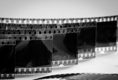 Viejas negativas en un fondo blanco Imagen de archivo