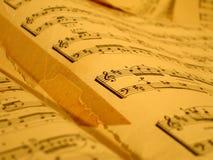 Viejas notas de la música Fotos de archivo