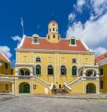 Viejas opiniones de Punda Curaçao de la iglesia del fuerte Fotografía de archivo libre de regalías