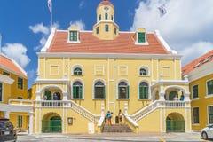 Viejas opiniones de Punda Curaçao de la iglesia del fuerte Fotos de archivo