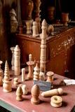 Viejas piernas de la artesanía en madera Imagen de archivo libre de regalías
