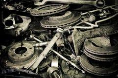 Viejas piezas automotoras Imagen de archivo libre de regalías