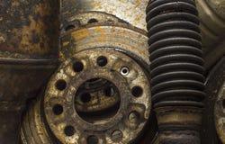 Viejas piezas del coche Imágenes de archivo libres de regalías